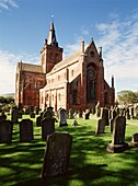 St Magnus Cathedral KIRKWALL ORKNEY Cathedral building and graveyard