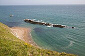 Classic coastal scenery of the Jurassic in the Isle of Purbeck  Lulworth Cove, Stair Hole, Man o War bay and Durdle Door