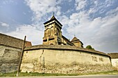 The german fortified church of Valea Viilor Wurmloch in Transsilvania, listed as UNESCO World Heritage  Most Germans have left Romania beginning of 1990ies  Europe, Eastern Europe, Romania, July 2008