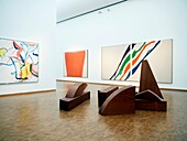 Modern art on display at famous Museum Ludwig in Cologne Germany