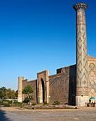 Minarets of the Ulugbek Madrasah, Registan Square, Samarkand, Uzbekistan