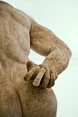 Farnese Hercules statue  National Archaeological Museum  Naples  Italy
