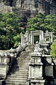 Sri Lanka, Yapahuwa, stone staircase and gateway