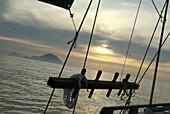 Filicudi as seen from Salina, Aeolian islands, Italy