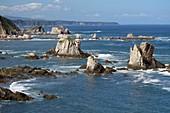 Cliffs and Huge Rocks near ´Silent Beach´, Playa del Silencio, Asturias, Spain