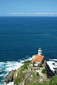 Cudillero´s Ligthhouse,cliffs and huge rocks, Cudillero, Asturias, Spain, Europe
