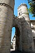 Porta Soprana, medieval fortified gate, Genoa, Italy