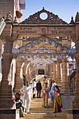 Worshippers visiting Sachiya Mata Temple, Osian, near Jodhpur, Rajasthan, India