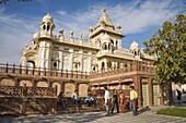 Tourists visiting Jaswant Thada Memorial, Jodhpur, Rajasthan, India