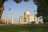 The Taj Mahal and Mosque, Agra, Uttar Pradesh, India