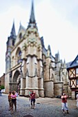 Saint Pierre Cathedral, town of Vannes, departament de Morbihan, Brittany, France  Tilted lens used for shallow depth of field