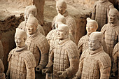 Archaeology, Army, Art, Arts, Asia, China, Color, Colour, Historic, Historical, History, Horizontal, indoor, indoors, interior, Line, Lines, Mausoleum, Mausoleums, power, Row, Rows, Sculpture, Sculptures, Shaanxi, Shanxi, Shensi, Sian, Soldier, Soldiers,
