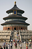 Architecture, Asia, Beijing, Building, Buildings, China, Circular, Color, Colour, Daytime, exterior, Hall of Prayer for Good Harvests, human, outdoor, outdoors, outside, Pekin, Peking, people, People´s Republic of China, person, persons, PRC, Qinian Dian,
