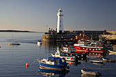 donaghadee harbour and lighthouse county down northern ireland uk