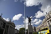 dublin spire oconnell street and statue of jim larkin dublin city centre republic of ireland