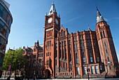 original redbrick victoria building of the university of liverpool merseyside england uk