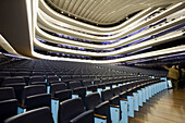 Spain. Comunidad Valenciana. Valencia. City of the Arts and the Science. Palau de les arts Reina Sofía, opera house and performing arts center. It contains four large rooms: a Main Room, Magisterial Classroom, Amphitheater and Theater of Camera. It is ded