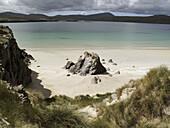 Sandy beach at Balnakeil near Durness in northern Scotland