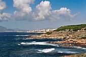 South view of Alghero  Island of Sardinia, Sassari province, Italy, Europe
