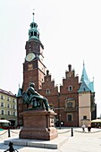 Monument to Alexander Fredro, Main Market Square, Town Hall, Wroclaw, Poland