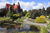 Poland, Wroclaw, Church of SS Peter and Paul, Botanical Gardens