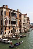 Italy, Venice, Grand Canal, Cavalli Franchetti and Barbaro Palaces