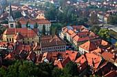 Slovenia, Ljubljana, general aerial view