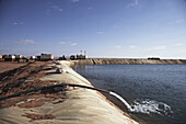 Water reservoir in the desert, Murzuk sand sea, Lybia, Africa