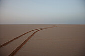 Lane in red sand, Mauritania, Africa