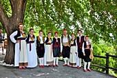 People in traditional clothes, Dubrovnik, Dalmatia, Croatia
