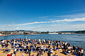 View from sun deck towards Oslo, Ferry cruise ship Color Fantasy, Oslo, South Norway, Norway