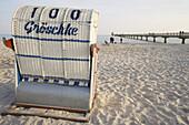 beach chair on beach of Ostseebad Grömitz, Schleswig-Holstein, Germany, Europe