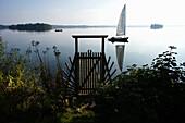 Sailingboat on Lake Plön, Plön, Schleswig-Holstein, Germany, Europe