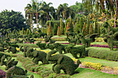 Bushes cut like animals at Nong Nooch tropical botanical garden , Chonburi Province, Thailand, Asia