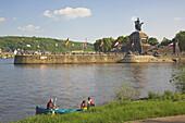 Koblenz, German Corner, (Deutsches Eck), Confluence of Rhine and Mosel, Rhineland-Palatinate, Germany, Europe