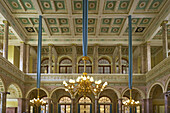 Marmorsaal im Kursaalgebäude, Marble hall, Bad Ems an der Lahn, Bad Ems on Lahn, Rhineland-Palatinate, Germany, Europe