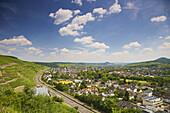 Blick auf Ahrweiler, Bad Neuenahr-Ahrweiler, Ahr, Eifel, Rheinland-Pfalz, Deutschland, Europa