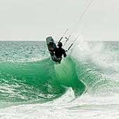 kite, kitesurf, kitesurfing, water, wave, A75-1139421, AGEFOTOSTOCK