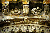 Detail of the Romanesque church of Notre-Dame, Surgeres, Way of St James, Charente-Maritime, Poitou-Charentes, France