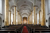 Germany, Krefeld, Rhine, Lower Rhine, North Rhine-Westphalia, city church Saint Dionysius, catholic church, interior view, classicism