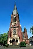 Germany, Krefeld, Rhine, Lower Rhine, North Rhine-Westphalia, D-Krefeld-Bockum, Saint Gertrudis church, catholic church, neo-Gothic style