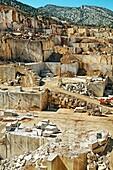 Marble quarry near Orosei. Sardinia. Italy.