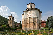 Serbia, Belutcha Monastery, Church of St Mother of God, 1389, Orthodox, christian, religious, exterior, outside, facade, colour, cemetery