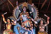 BANGLADESH Statue of Kali, Hindu goddess of destruction, Village of Pouli  PHOTO by SEAN SPRAGUE
