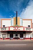 USA, Louisiana, Cajun Country, New Iberia, art-deco Evangeline Theater, exterior, daytime