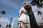 USA, Florida, Sarasota, sculpture Unconditional Surrender by J Seward Johnson, waterfront