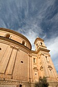 Malta, Central Malta, Mgarr, Church of the Assumption, also known as the Egg Church, built in the 1930s with money raised from the sale of locally produced eggs, exterior