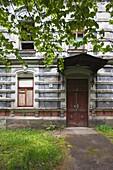 Latvia, Western Latvia, Kurzeme Region, Liepaja-Karosta, abandoned Soviet Navy building