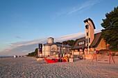 Latvia, Western Latvia, Riga Area, Jurmala, Majori Village, Majori Beach, sunset