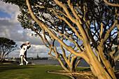 Sculpture Unconditional Surrender by J. Seward Johnson, San Diego waterfront, San Diego, California, USA